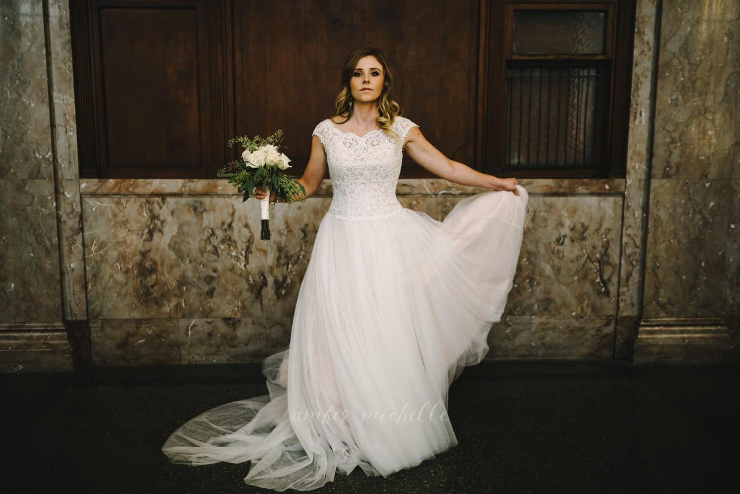 Downtown Bridal Session At Millennium Center Winston